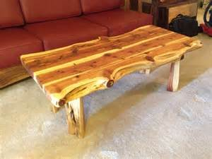 Cedar Coffee Table Liveedge Cedar Coffee Table With Turquoise Inlay Boulder Furniture Arts