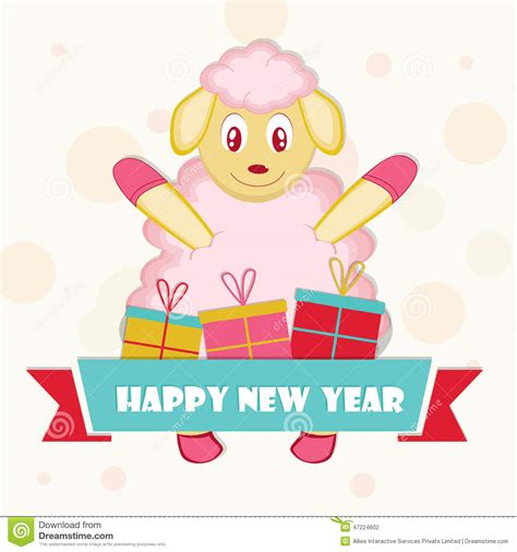 new year sheep images new year celebration with a sheep stock illustration