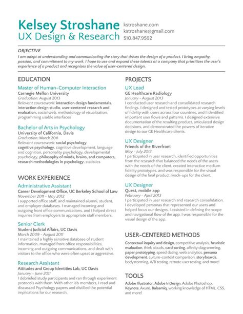 Best Ux Resume by 17 Best Images About User Interface On Pinterest App