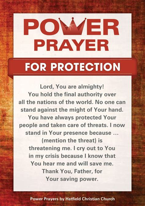 and for prayer for protection pray prayer for