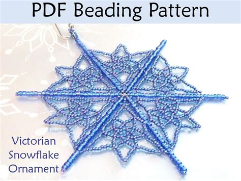 beaded snowflake patterns free beaded snowflake ornament 2982 by simplebpatterns craftsy