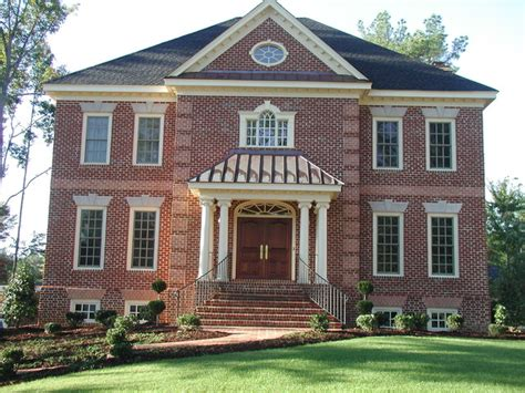 colonial brick homes brick colonial with basement garage
