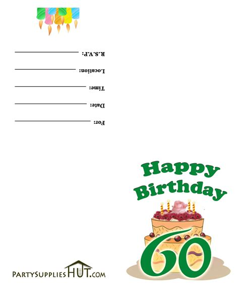 free printable 60th birthday invitations templates free printable 60th birthday invitation cards
