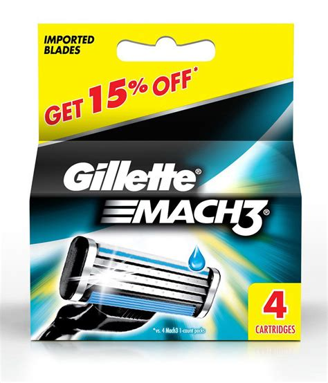 Gillette Mach3 Turbo Isi 4 gillette mach 3 4 cartridges buy gillette mach 3 4 cartridges at best prices in india snapdeal