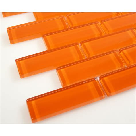 c13 2 orange burst brick glass tiles glass tile oasis