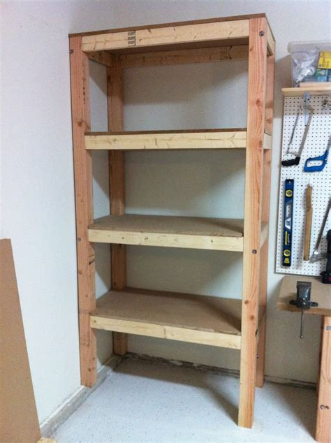 Simple Custom DIY Wood Garage Storage Shelves In The