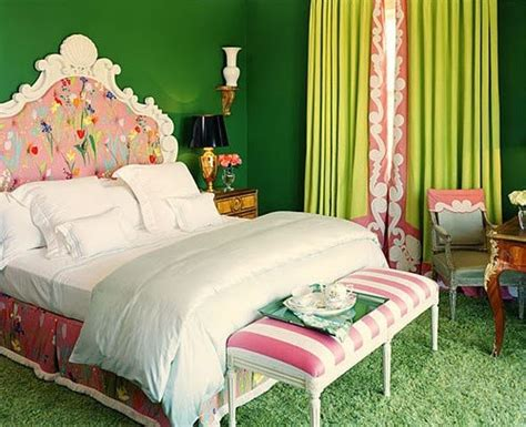 green and pink bedroom pink and green interiors panda s house