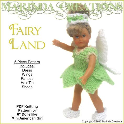 Wst 5348 Lace Dress fairyland for mini s knitting pattern by marinda creations