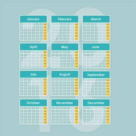 design calendar simple simple wall calendar 2016 design vectors set 0 vector