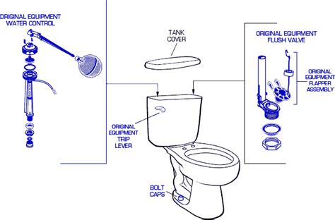 Faucet Shoppe Genuine American Standard 2388 Toilet Replacement Parts