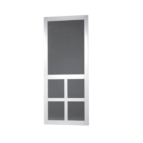 shop screen tight white vinyl screen door common 32 in x