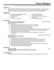 best equipment technician resume exle livecareer