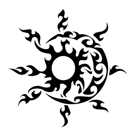 sun moon tribal tattoos 32 moon designs