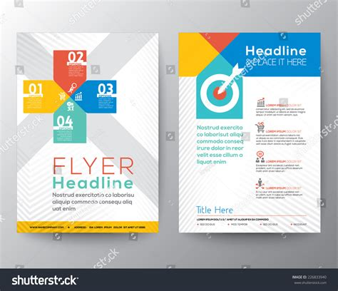 brochure flyer graphic design layout vector stock vector