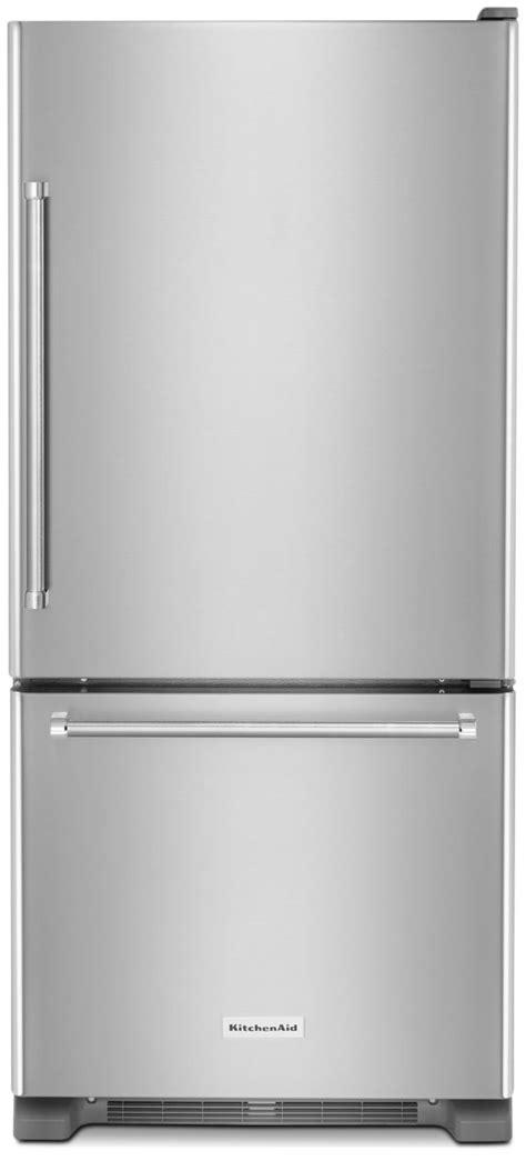 Kitchenaid Fridge Clicking Noise Kitchenaid 19 Cu Ft Bottom Mount Refrigerator