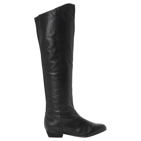 steve madden knee high boots steve madden creation leather knee high boots in black lyst