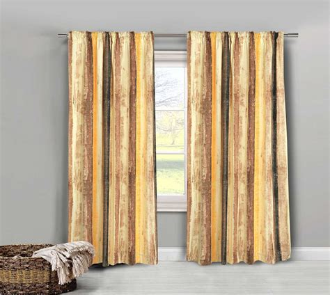 solar blocking curtains mogul natural painted striped pair of curtains tiebacks