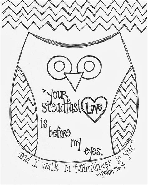 coloring pages for bible verses free valentine s day bible verse owl coloring page