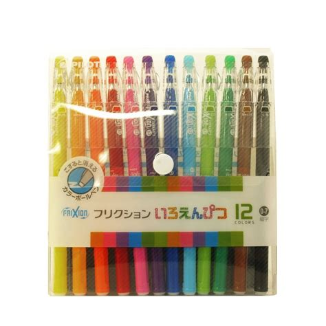 Japan Import Frixion Pencil Color 12 Pcs new pilot frixion erasable color pencils like gel ink pen 12 color set 0 7mm f s ebay