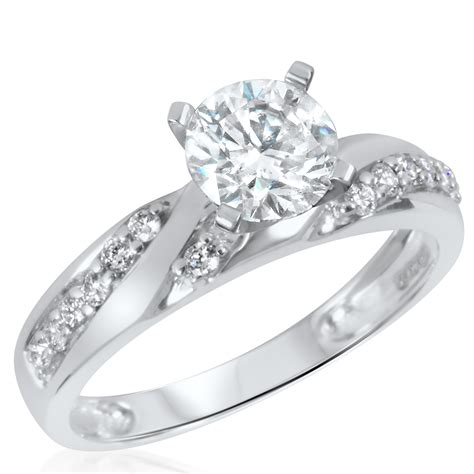 ct tw diamond womens bridal wedding ring set