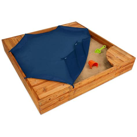 backyard sandpit kidkraft 174 backyard sandbox 170667 toys at sportsman s guide