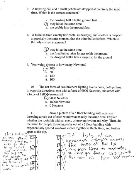 Section 2 Review Physical Science Answers by 2010 2nd Quarter Assignments 6th Grade Physical Science