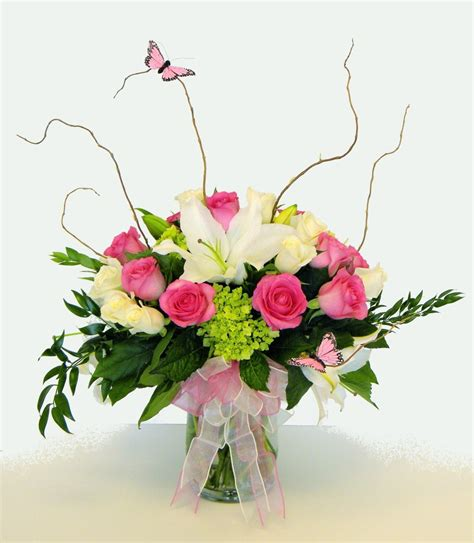 Floral Flowers by Beautiful Flowers Arrangement With Blue Purple Green Black