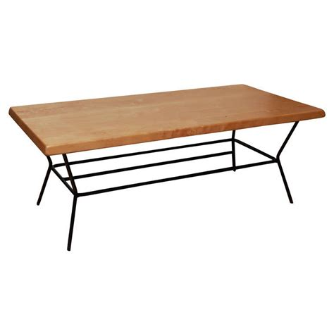 Coffee Table Legs Metal Birch Coffee Table With Black Metal Legs At 1stdibs