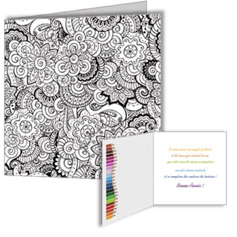 carte de voeux  coloriage zentangle anti stress