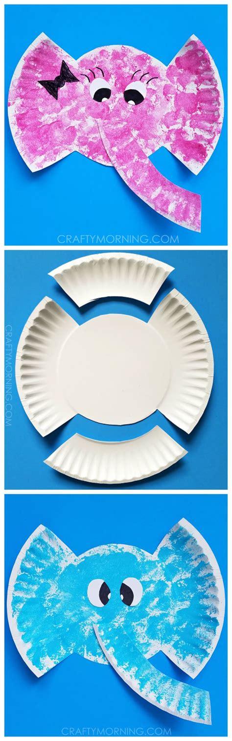 Paper Plate Elephant Craft - avec des assiettes en