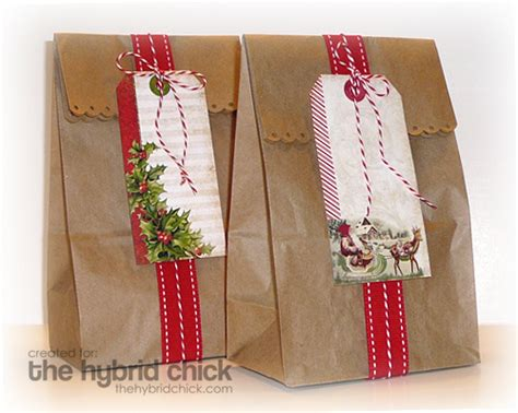 xmas decorated brown paper bags hybrid brown paper gift bags hybrid that everyone can crea flickr