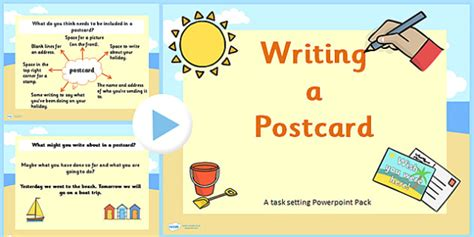 post card template twinkl how to write a postcard powerpoint task setter ks1 writing