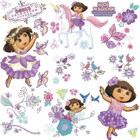 Roommates Repositionable Childrens Wall Stickers roommates repositionable childrens wall stickers dora the