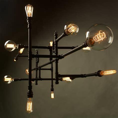 Plumbing Pipe 16 Bulb Chandelier Lightbulb Chandelier