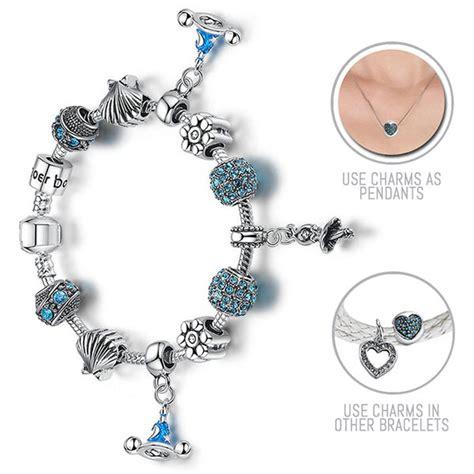 i am a princess silver pandora style bracelet combo set