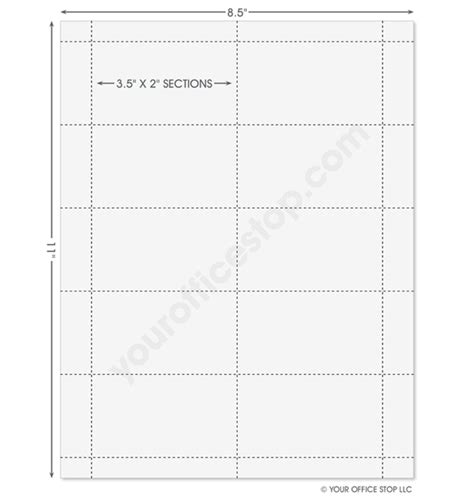 Business Card Stock Paper