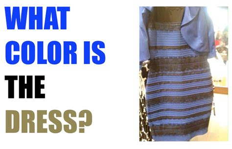 color of the dress what color is the dress solved with science everyday questions