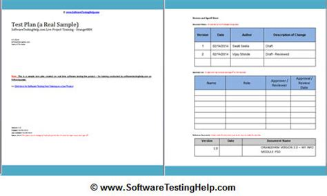 software test plan template qa business plan