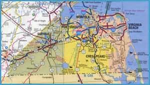 Map Of Virginia Beach Va by Virginia Beach Map Travel Map Vacations