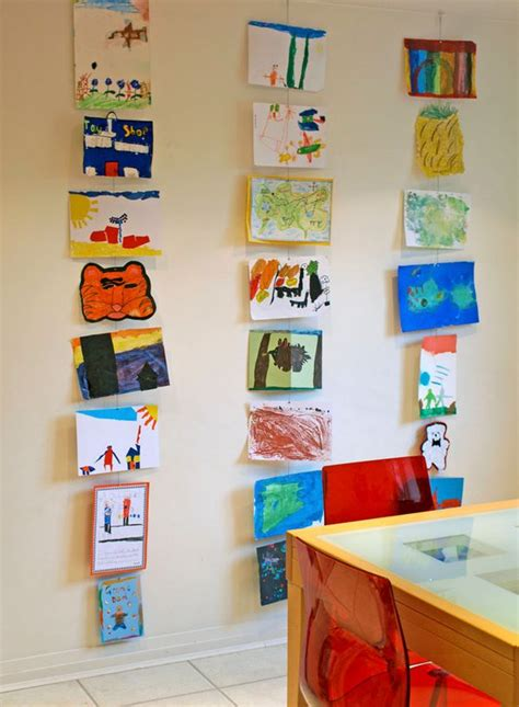 10 diy kids art displays to make them proud kidsomania 10 diy wall art ideas for your child s masterpieces care