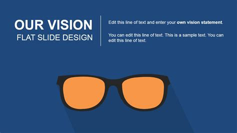 design vision our vision flat slide design for powerpoint slidemodel