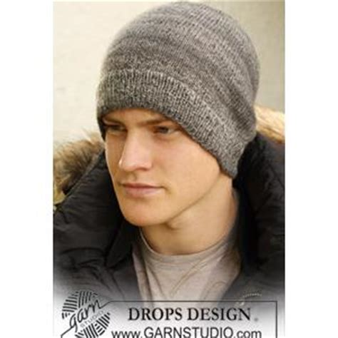 mens knitted hat patterns by dropsdesign