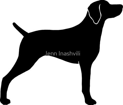 Sarung Bantal Cushion Cover Silhouette Peoples 3 quot weimaraner silhouette s quot stickers by jenn inashvili redbubble