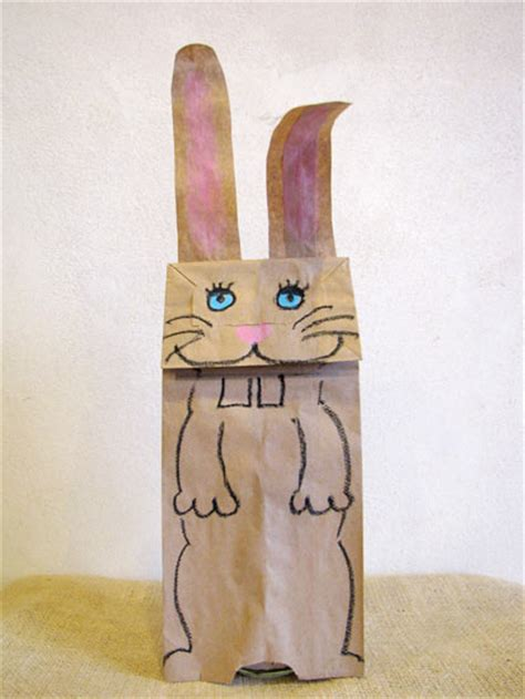 Paper Bag Bunny Craft - paper bag bunny puppet factory direct craft
