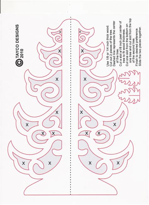 diy scroll saw christmas patterns plans free
