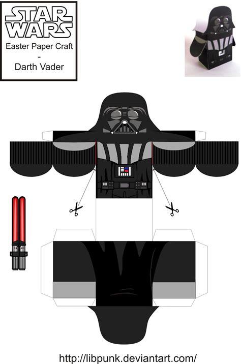 Papercraft Darth Vader - darth vader easter paper craft by libpunk on deviantart
