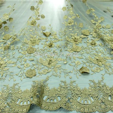 embroidery and on fabric aliexpress buy 3d golden new lace organza voile silk