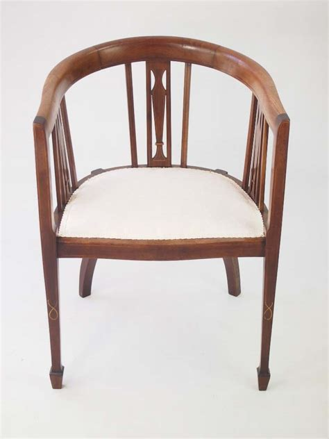 antique occasional chairs uk edwardian mahogany tub chair