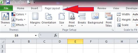 tab page layout adalah cara mengatur margin halaman erns excel