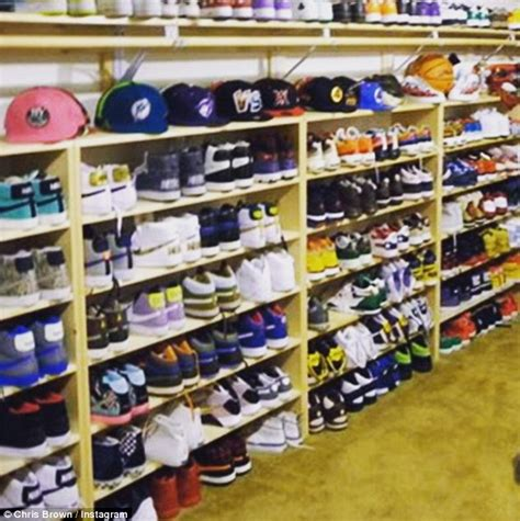Brown Shoe Closet by Nick Cannon Battles Chris Brown Their Sneaker